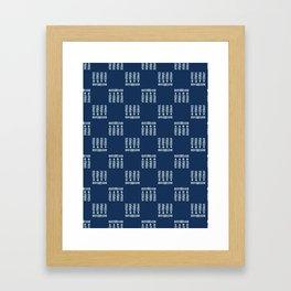 Square Motif Sashiko Style Japanese Needlework Framed Art Print
