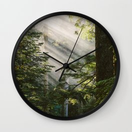 Forest Rays Wall Clock