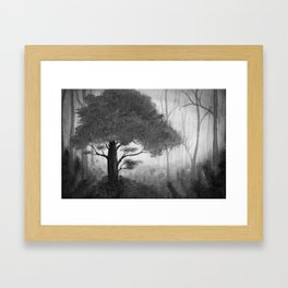 The Dark Forest (B&W) Framed Art Print