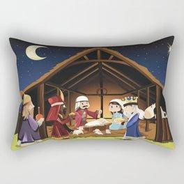 Holiday Christmas Jesus The Three Wise Men Sheep C Rectangular Pillow