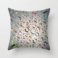 bats Throw Pillows featuring Bats by Cody Weber