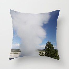 Cloud Of Steam and Water Throw Pillow