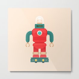 Robo-Bros: Saturnian Scavenger Metal Print