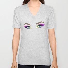 Rainbow Make-up Unisex V-Neck