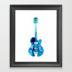 Vintage Guitar 2 - Colorful Abstract Musical Instrument Framed Art Print