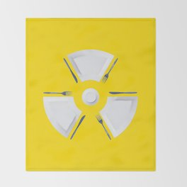 Polluted - Dinner Time Symbol Throw Blanket