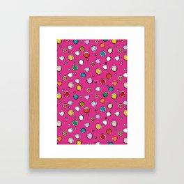 wilderdot cerise Framed Art Print
