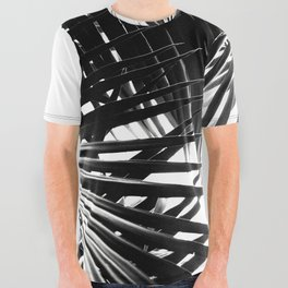 Palm Leaves Black & White Vibes #3 #tropical #decor #art #society6 All Over Graphic Tee