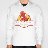 parks and recreation Hoodies featuring Jurassic Parks and Rex Creation by Tabner's