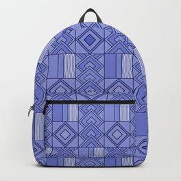 Purple African Ankara Print Backpack