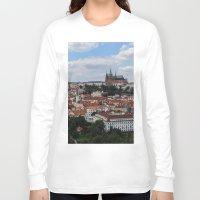 prague Long Sleeve T-shirts featuring Prague CityScape by Andrew Schmidt