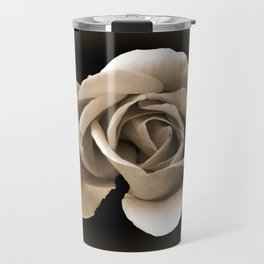 Rose in Sepia Travel Mug