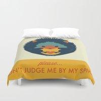 hedgehog Duvet Covers featuring Hedgehog by Ariel Wilson