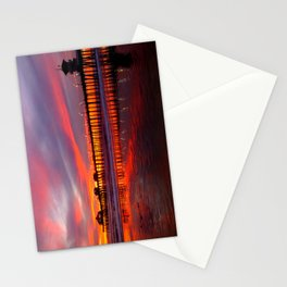 Sunset At The Pier * Huntington Beach, California Stationery Cards