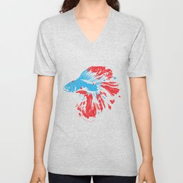 Betta Splendens Shirt Bettas Siamese Fighting Fish Gift Unisex V-Neck