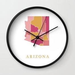 Arizona map Wall Clock