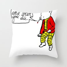 Grin and Bear It Throw Pillow