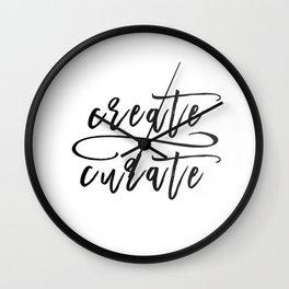 Create / Curate Wall Clock