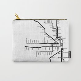 Chicago CTA Map, Chicago Map Art, CTA Art, Chicago Wall Art, Chicago Art, L Train, Art Print Carry-All Pouch