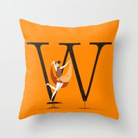 eames Throw Pillows featuring Willow & Eames by ChicksAndType