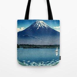 Tsuchiya Koitsu - Mount Fuji and Shoji Lake - Japanese Vintage Woodblock Ukiyo-E Tote Bag