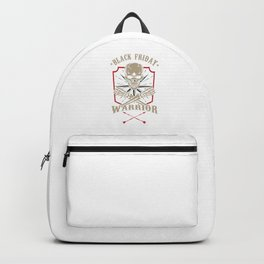 Black-Friday Warrior Shopping Holiday Thanksgiving Giftgiving Gifts Backpack