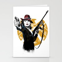 agent carter Stationery Cards featuring Agent Peggy Carter by PawixZkid