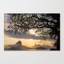 Sugar Loaf and Christ the Redeemer Canvas Print