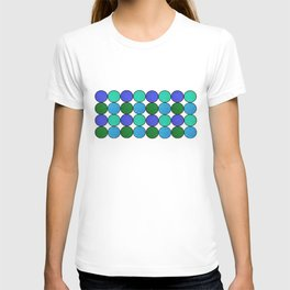 Polka Brights (blue/green) T-shirt