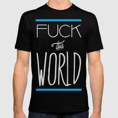 The World MEDIUM Mens Fitted Tee Black