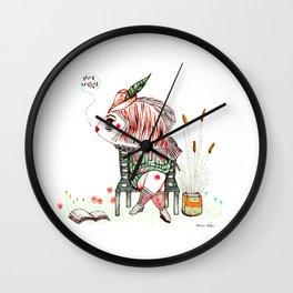 The quiet reader Wall Clock