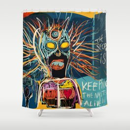 Keeping the mystery alive Shower Curtain