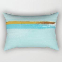 Teal Dream Abstract Rectangular Pillow
