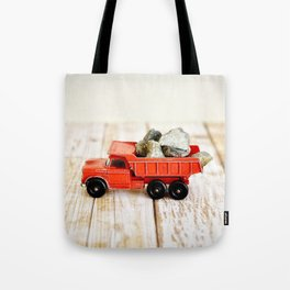 Red Dumptruck Tote Bag
