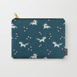 Valentine Unicorns Carry-All Pouch