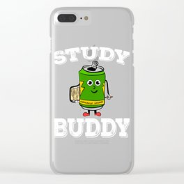 Perfect tee for energy drink lovers out there! Stay active and energized with your cute study buddy! Clear iPhone Case