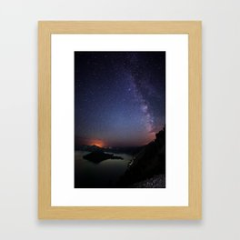 Crater Lake Galaxy Framed Art Print