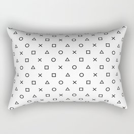 Playstation Controller Pattern (Black on White) Rectangular Pillow