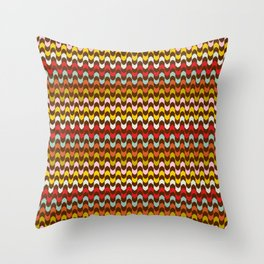 Mod Stripe Pattern Throw Pillow