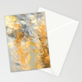 Blue and Gold Spatter Abstract Stationery Cards