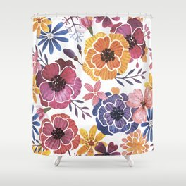 fabulous poppies Shower Curtain