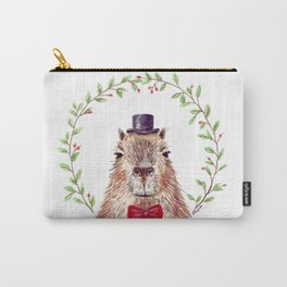 """Watercolor painting """"Sir Capybara"""" Carry-All Pouch"""