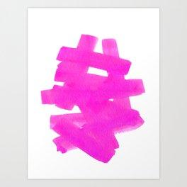 Superwatercolor Pink Art Print