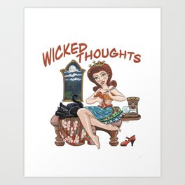 Wicked Thoughts Art Print