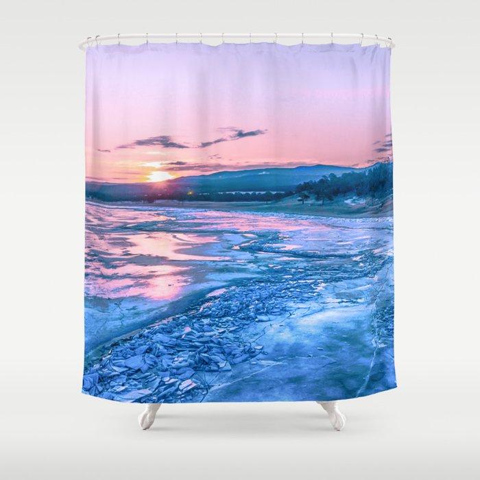 Baikal Sunrise Shower Curtain