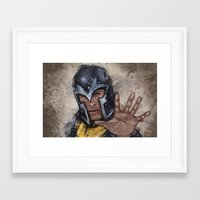 magneto Framed Art Prints featuring Magneto. by Emiliano Morciano (Ateyo)