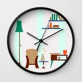 Living Room Vector Wall Clock