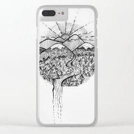 Utopian Hills Clear iPhone Case
