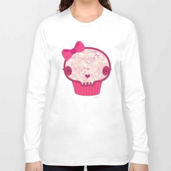Cupcake Skull Long Sleeve T-shirt