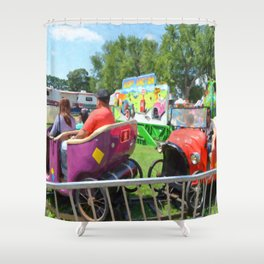 Jalopy Junction Shower Curtain